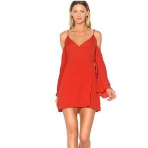 NWT Lovers + Friends Red Wrap Dress